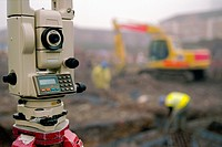 Detail of Total Station on site