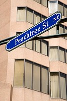 Road sign for Peachtree St. in downtown Atlanta, Georgia