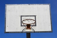 Basketball Hoop, Blue, Circle, Close_Up, Court