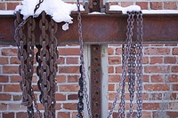 Bolt, Brick Wall, Chain, Close_Up, Day