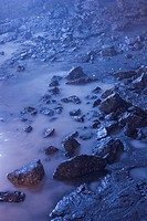 Blue, Rocks, Scattered