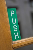 Capital Letter, Close_Up, Door, Focus On Foreground, Green