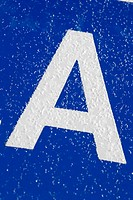 Blue, Letter A, Close_Up, Capital Letter, Alphabet
