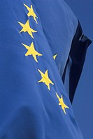 Blue, Close_Up, Day, European Union Flag, In A Row