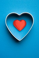 Close_Up, Colored Background, Heart Shape, Indoors, Metal