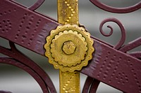 Close_Up, Gate, Golden, Grille