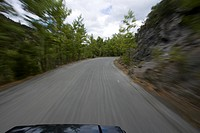 Blurred Motion, Driveway, Car, Bonnet, Automobile