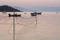 Boat, Dusk, Equipment, Fishing Equipment, Fishing Net