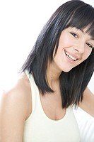 Portrait of a smilling brunette (thumbnail)