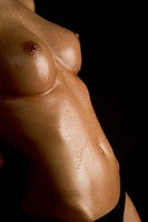 close_up of breast and stomach