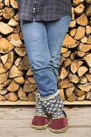 Blue, Casual Clothing, Checked, Close_Up, Firewood