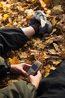 Casual Clothing, Communication, Day, Dry Leaves, Holding