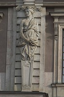 monument, structure, embossed, figure, lady, stone