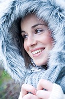 Portrait of a woman in winter jacket (thumbnail)