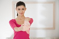 Woman streaching hands (thumbnail)