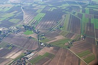 Land, aerial view, fields, picturesque, view, aerial (thumbnail)