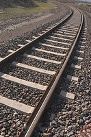 railroad, track, way, path, pathway, stones