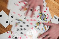 hands, playing cards, card, game