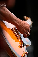 guitar, guitarist, close_up, fingers, strumming, playing