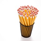 Group of pencils in pencil holder (thumbnail)