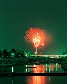 fireworks, cityview, sky, nightview, city, landscape, scenery