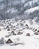 landscape, mountain, scenery, houes, village, modern architecture, snow