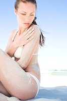 beauty woman on beach