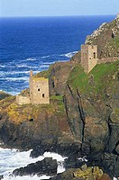 Ruins of a tin mine, Botallack Mine, Botallack, Cornwall, England