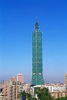 Taiwan,Taipei,City Skyline and Taipei 101 Skyscraper 1667 feet