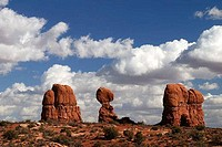 Clouds over a rocky landscape, Arches National Park, Utah, USA