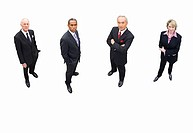 Group of businessmen and woman, cut out (thumbnail)