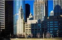 Chicago Architecture, Wrigley Building, Illinois, USA