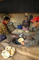 A chapati bakery in Leh, Ladakh, India