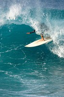 Man surfing in Maui, Hawaii