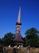 Wooden church, church, Shulde Shutei, Maramures, Romania, Europe, World Heritage, June