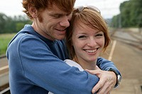 Young couple, portrait, laughing, couple, 20-25 ye (thumbnail)