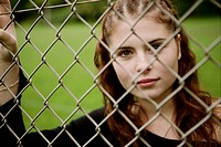 Teenager, beauty, girl, faithful, fence, face, you (thumbnail)