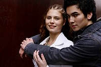 Beautiful, teenage couple, together, gentle, young (thumbnail)