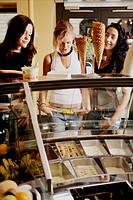 Girls, teenagers, beauty, parlor, ice cream, teens (thumbnail)