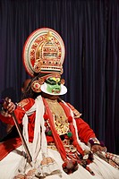 India, Kerala, Kochi, Cochin, kathakali theatre performance