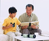 Boy, Child, Grandfather, Grandchild, Japan