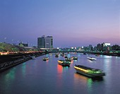 Cherry blossoms, Sumida river, Evening view, Cherry blossoms showplace best 100, Tokyo, Japan