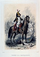Dragoon of the Empress's Regiment. From Napoleon 1er et la Garde Imperiale by Eugene Fieffe, Paris, 1858