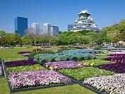 Osaka Castle, Osaka business park, Nishinomaru garden, Osaka, Osaka, Japan