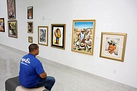 Florida, Miami, Little Haiti, Cultural Complex Center, art, gallery, exhibit, painting, frame, local artist, culture, heritage, Afro_Caribbean style, ...