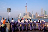 View of Pudong from the Bund, Huangpu river, Shanghai, China