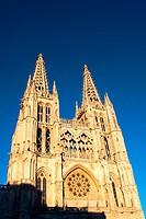 Templo católico de estilo gótico frances. Burgos. Castilla y León. España. Europa.