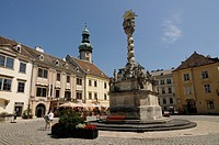 Town square Sopron Hungary Europe