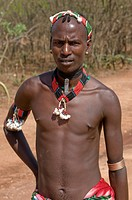 Hamer tribesman Omovalley Ethiopia Africa