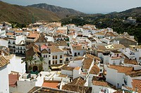Typical white houses in Andalucia, Spain